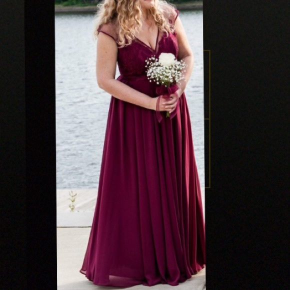 Dresses Wine Colored Bridesmaid Dress Or Formal Gown Poshmark